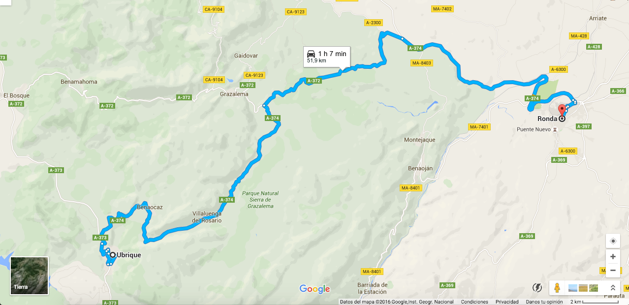 Ruta En Moto Por El Parque Natural De Grazalema